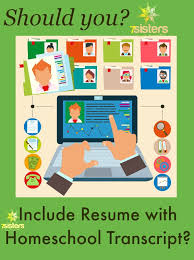 should you include resume with homeschool transcript