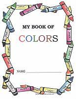 free printable coloring book for learning colors one page for