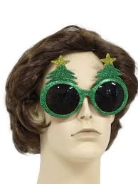 christmas glasses accessories glittery christmas tree sunglasses to wear with your