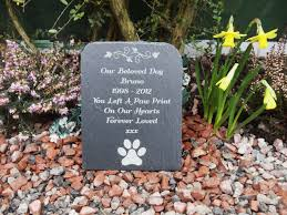 dog grave markers slate pet cat dog rabbit memorial grave marker headstone