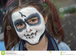 How To Paint A Skeleton Face For Halloween by Skeleton Face Painting Royalty Free Stock Images Image 14805319