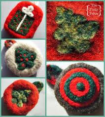 the funky felter needle felted ornaments