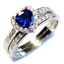 cheap heart rings images Promise rings cheap sapphire heart promise ring with band blue jpg