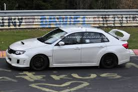 slammed subaru wrx spied subaru wrx sti spec c spotted testing on the nürburgring