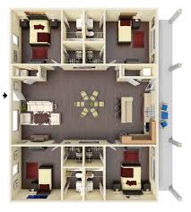 Floor Plan Of 4 Bedroom House Ole Miss Off Campus Housing For Rent Oxford Ms 4 U0026 6 Bedroom