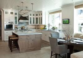 Beach Cottage Kitchen by Balboa Island Beach House With Coastal Interiors Home Bunch