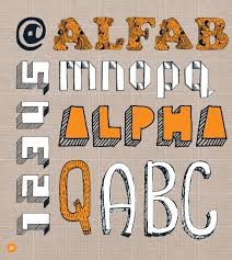 draw your own alphabets thirty fonts to scribble sketch and