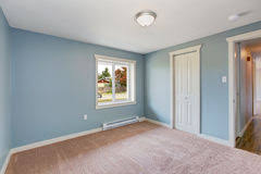 Light Blue Bedroom by Simple Bedroom With Light Blue Walls Stock Photo Image 45737101