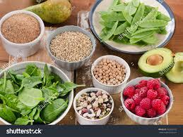 foods rich fiber on wooden table stock photo 393352192 shutterstock