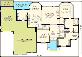 4 bedroom house floor plans 4 bedroom with 2 story great room 89831ah architectural designs