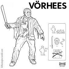 ikea instructions for horror movie characters neatorama