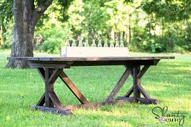 Free Plans For Outdoor Picnic Tables by Ana White Fancy X Farmhouse Table Diy Projects