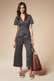 buy jumpsuit buy grey wrap cropped jumpsuit from the uk shop