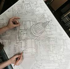 student model u0027s amazing freehand architectural sketches will