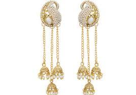 kerala style earrings jhumka style layered earrings kerala news kerala