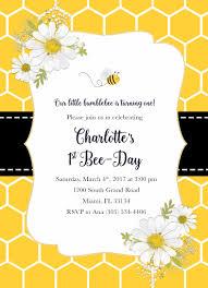 bee birthday invitation bee invitation bee day invitation bee