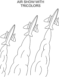 republic day air show coloring page