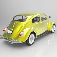 volkswagen beetle yellow volkswagen beetle studio max 3d cgtrader