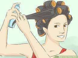 how to put rollersin extra short hair how to use velcro rollers 12 steps with pictures wikihow