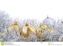 golden and silver christmas decorations royalty free stock image