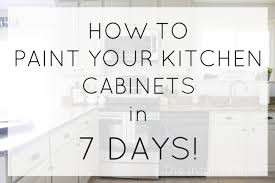 how to paint cabinets fast how to paint your cabinets in 7 days the inspired hive