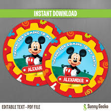 mickey mouse clubhouse birthday invites disney mickey mouse clubhouse birthday favor tags instant