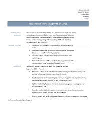 summary in resume examples telemetry nurse resume samples tips and templates telemetry nurse resume