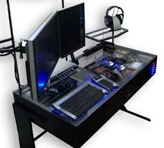 decorating a computer room ideas multiple monitor pc desk