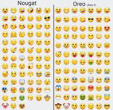 emojis android samsung s nougat emojis compared to the oreo beta emojis android