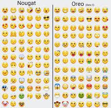 emojis android samsung s nougat emojis compared to the oreo beta emojis android