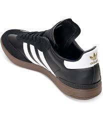 black samba adidas samba adv black white gum shoes zumiez