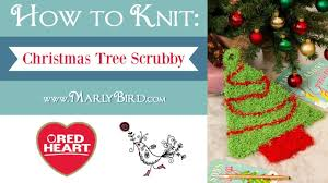learn how to knit the christmas tree scrubby with marly bird in
