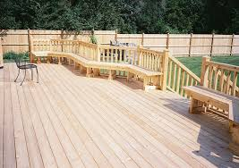 cedar u0026 trex composite deck contractor in chicagoland rustic fences