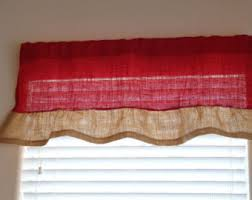Red Kitchen Curtains And Valances by Christmas Valance Etsy