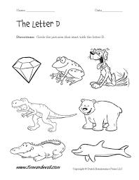 free worksheets for kindergarten letter d my free printable