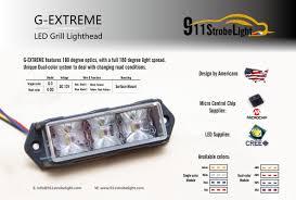 g vehicle led strobe warning light 3w led surface