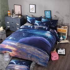 themed duvet cover 3d print galaxy duvet cover set single bedding