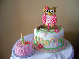 1st Birthday Party Decorations Homemade Owl 1st Birthday The Mom Asked For A Girly Owl Themed Cake I