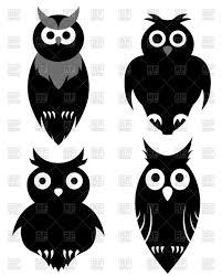 halloween owls set of halloween black owls vector image 107882 u2013 rfclipart