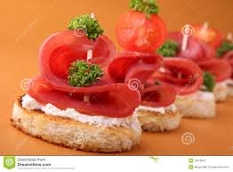 appetizer canape appetizer canapes stock image image of blini canape 19079567