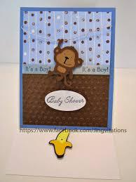 Baby Boy Monkey Theme Jingvitations Monkey Theme For Baby Shower Invitations