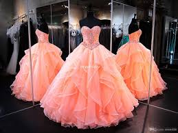 coral quince dress coral quinceanera dresses 2017 sweetheart masquerade gowns