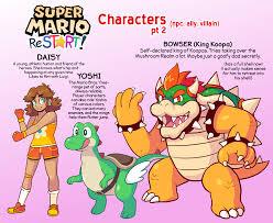 super mario restart characters jennyjams deviantart
