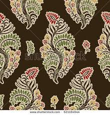 Elements Home Decor Seamless Pattern Fantasy Flowers Natural Wallpaper Stock Vector