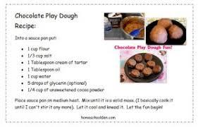 printable playdough recipes chocolate play dough recipe homeschool den