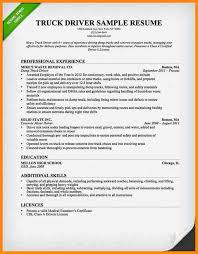 Sample Resume Truck Driver by Commercial Driver Cover Letter