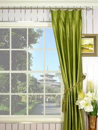 Faux Dupioni Silk Curtains Oasis Crisp Plain Double Pinch Pleat Dupioni Silk Curtains