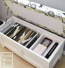 Filing Ottoman Diy File Storage Bench Hometalk