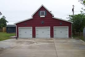Barn Garage Doors 3 Car Red Barn Style Garage