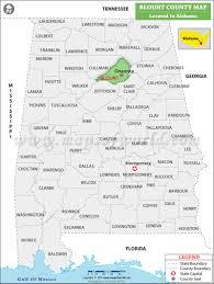 Map Alabama Blount County Map Alabama